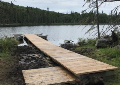 Travaux Quai du lac Riopel